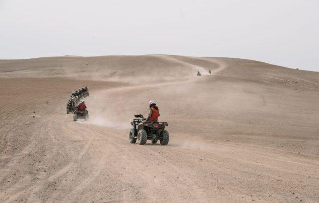 Quade biking in Marrakech